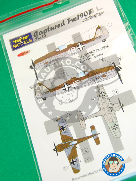 Focke-Wulf Fw 190 Würger F | Marking / livery in 1/72 scale manufactured by LF Models (ref. LF-C72100) image