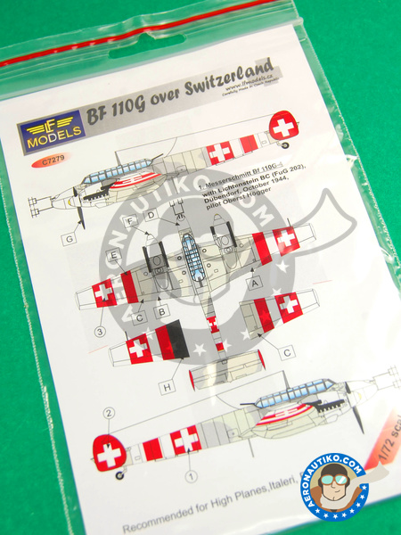 Messerschmitt Bf 110 G | Marking / livery in 1/72 scale manufactured by LF Models (ref. LF-C7279) image