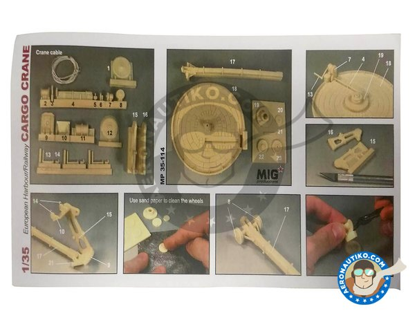 Image 2: European harbour railway cargo crane | Crane in 1/35 scale manufactured by MIG Productions (ref. MP35-114)