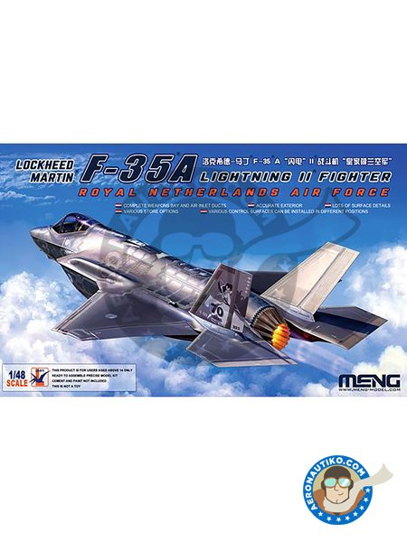 Lockheed Martin F-35A Lightning II | Airplane kit in 1/48 scale manufactured by Meng Model (ref. LS-011) image