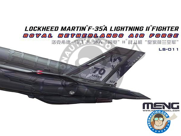 Image 1: Lockheed Martin F-35A Lightning II | Airplane kit in 1/48 scale manufactured by Meng Model (ref. LS-011)