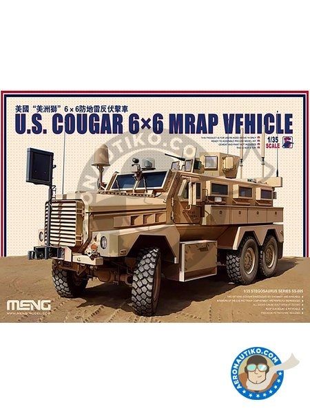 U.S. Cougar 6x6 MRAP Vehicle. US Marine Corps | Military vehicle kit in 1/35 scale manufactured by Meng Model (ref. SS-005) image