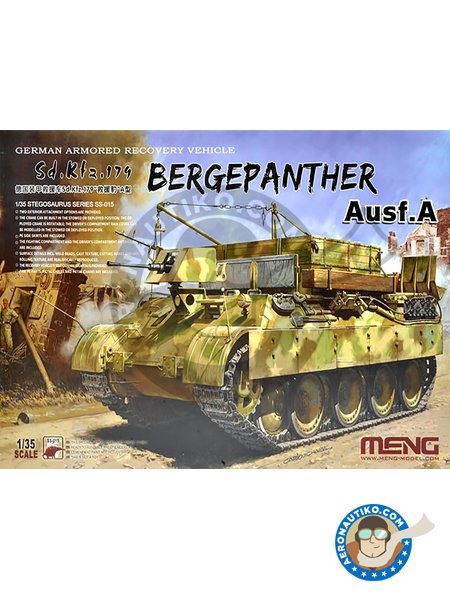 Bergepanther Ausf.A German Armored Recovery Vehicle Sd.Kfz.179 | Tank kit in 1/35 scale manufactured by Meng Model (ref. SS-015) image