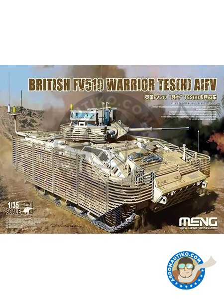 British FV510 Warrior TES(H) | Tank kit in 1/35 scale manufactured by Meng Model (ref. SS-017) image