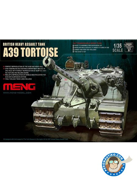 British Heavy Assault Tank A39 Tortoise | Tank kit in 1/35 scale manufactured by Meng Model (ref. TS-002) image