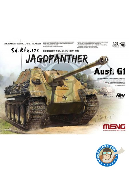 German Tank Destroyer Sd.Kfz.173 Jagdpanther | Tank kit in 1/35 scale manufactured by Meng Model (ref. TS-039) image