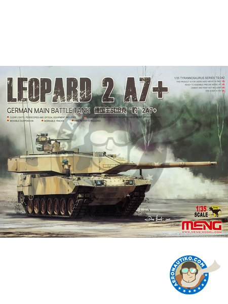 Leopard 2 A7 + | Tank kit in 1/35 scale manufactured by Meng Model (ref. TS-042) image
