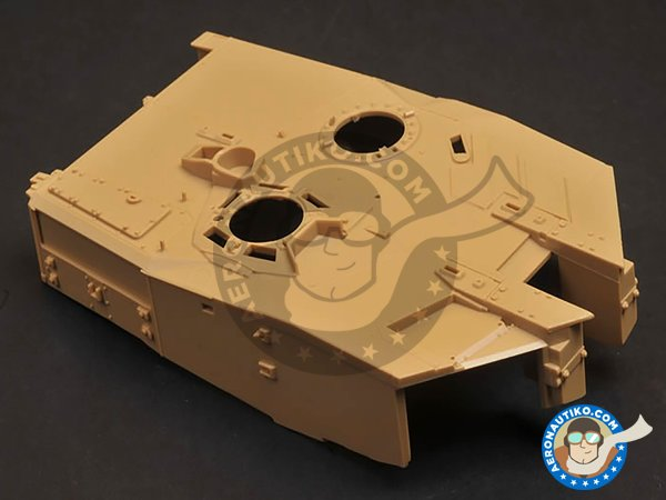 Image 4: Leopard 2 A7 + | Tank kit in 1/35 scale manufactured by Meng Model (ref. TS-042)