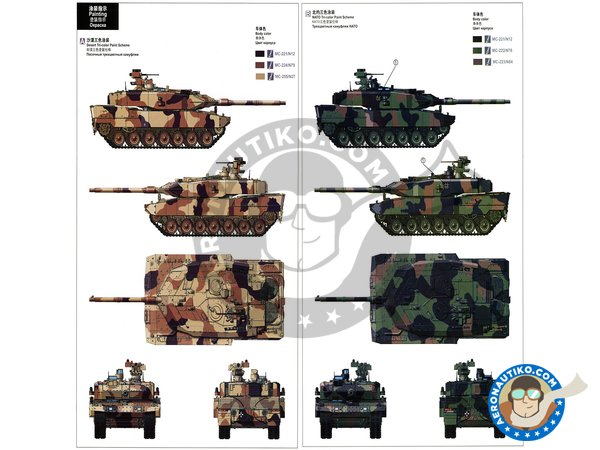 Image 6: Leopard 2 A7 + | Tank kit in 1/35 scale manufactured by Meng Model (ref. TS-042)