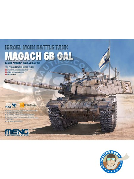 Magach 6B GAL | Tank kit in 1/35 scale manufactured by Meng Model (ref. TS-044) image