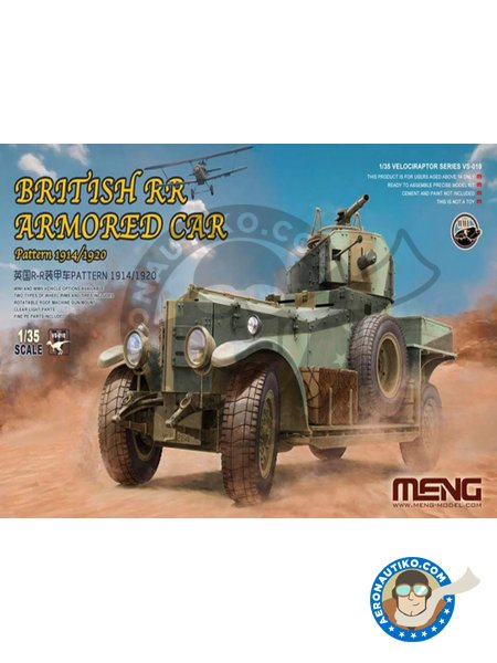 British Rolls-Royce armoured car | Military vehicle kit in 1/35 scale manufactured by Meng Model (ref. VS-010) image