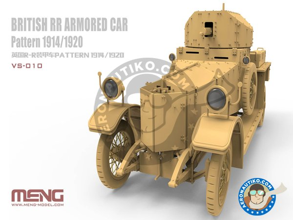 Image 1: British Rolls-Royce armoured car | Military vehicle kit in 1/35 scale manufactured by Meng Model (ref. VS-010)