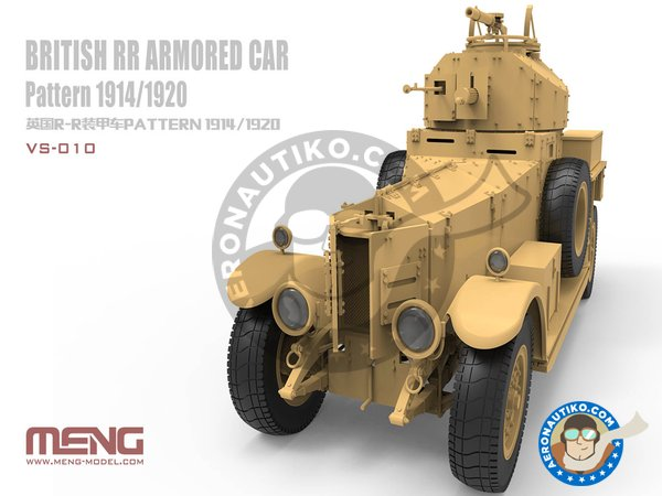 Image 2: British Rolls-Royce armoured car | Military vehicle kit in 1/35 scale manufactured by Meng Model (ref. VS-010)