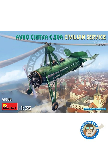 Avro Cierva C.30A | Airplane kit in 1/35 scale manufactured by Miniart (ref. 41006) image