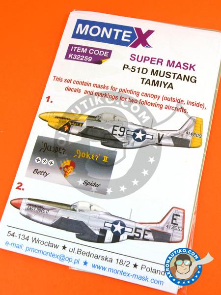 Montex 1//32 P-51D Mustang Paint Mask for Hasegawa kit