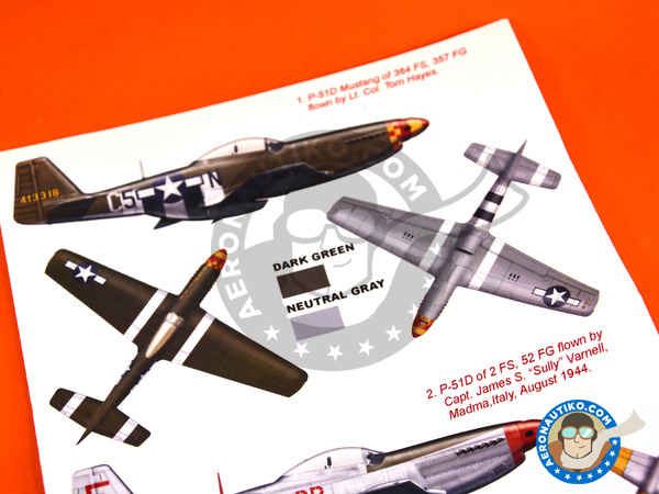 Image 5: North American P-51 Mustang D | Masks in 1/48 scale manufactured by Montex Mask (ref. K48298)