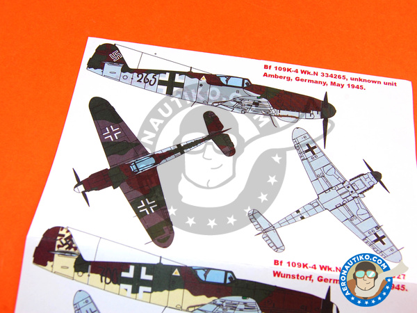 Image 7: Messerschmitt Bf 109 K-4 | Masks in 1/48 scale manufactured by Montex Mask (ref. KAM48096)