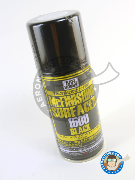 Mr Finishing Surfacer 1500 Black - 170ml | Primer manufactured by Mr Hobby (ref. B-526) image