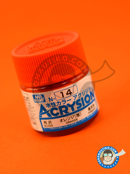 Orange gloss | Acrysion Color paint manufactured by Mr Hobby (ref. N-014) image