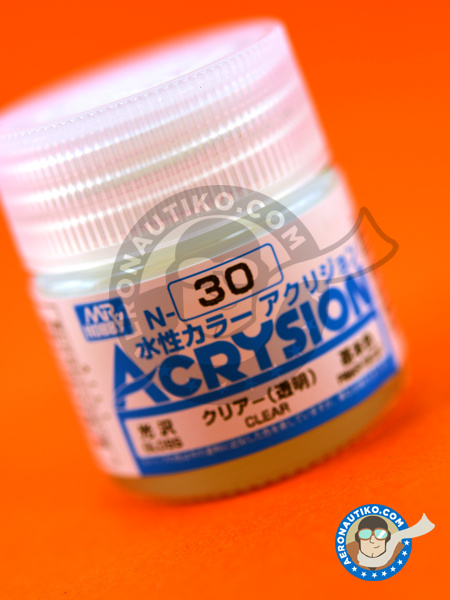 Clear | Acrylic paint manufactured by Mr Hobby (ref. N-030) image