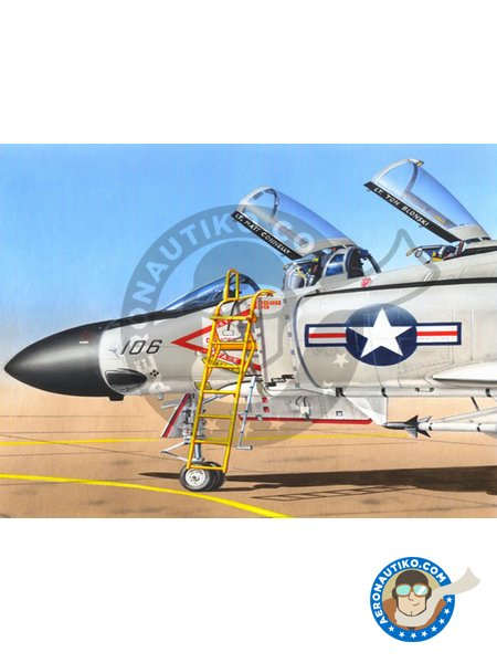 Ladder for F4 Phantom II | Ladder in 1/48 scale manufactured by Plusmodel (ref. AL4050) image