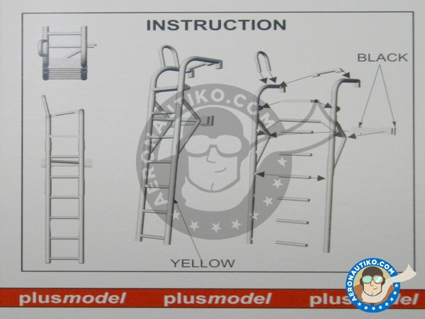 Image 1: Ladder for F4 Phantom II | Ladder in 1/48 scale manufactured by Plusmodel (ref. AL4050)
