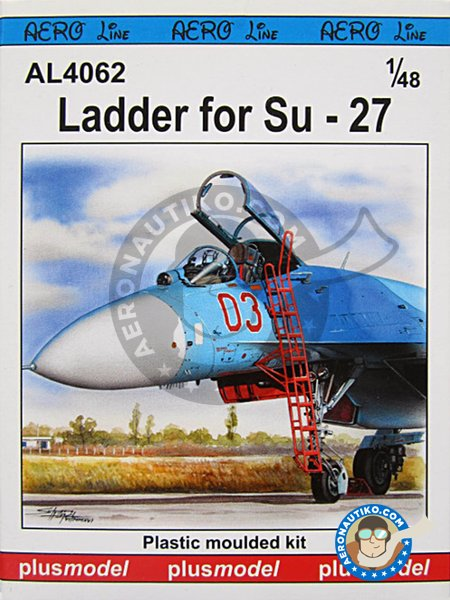 Ladder for Su-27 | Ladder in 1/48 scale manufactured by Plusmodel (ref. AL4062) image