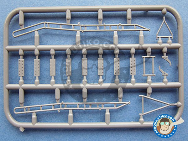 Image 1: Ladder for Su-27 | Ladder in 1/48 scale manufactured by Plusmodel (ref. AL4062)
