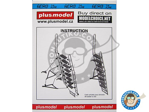 Image 2: Ladder for Su-27 | Ladder in 1/48 scale manufactured by Plusmodel (ref. AL4062)