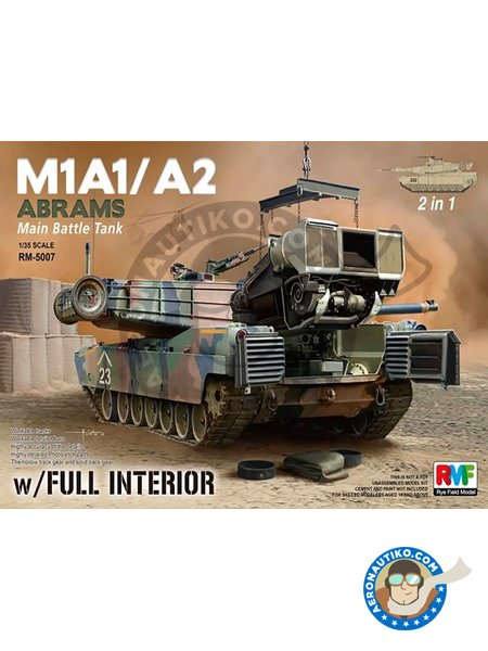 M1A1/M1A2 ABRAMS | Tank kit in 1/35 scale manufactured by RYE FIELD MODELS (ref. RM-5007) image