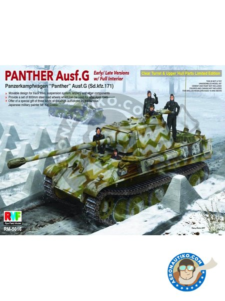 Panther Ausf.G Early/Late w/Full interior (Sd.Kfz.171) | Tank kit in 1/35 scale manufactured by RYE FIELD MODELS (ref. RM-5016) image