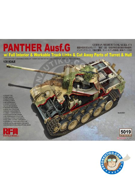 Panther Ausf.G | Tank kit in 1/35 scale manufactured by RYE FIELD MODELS (ref. RM-5019) image