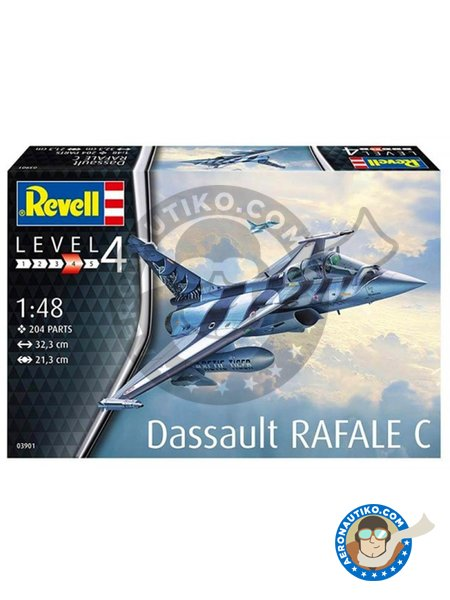 Dassault Rafale C | Airplane kit in 1/48 scale manufactured by Revell (ref. 03901) image
