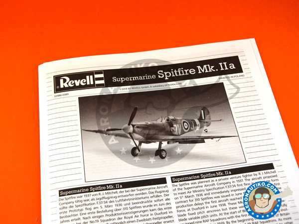 Image 5: Supermarine Spitfire Mk. IIa | Airplane kit in 1/32 scale manufactured by Revell (ref. REV03986)