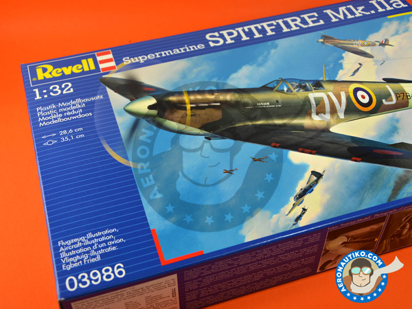 Image 10: Supermarine Spitfire Mk. IIa | Airplane kit in 1/32 scale manufactured by Revell (ref. REV03986)