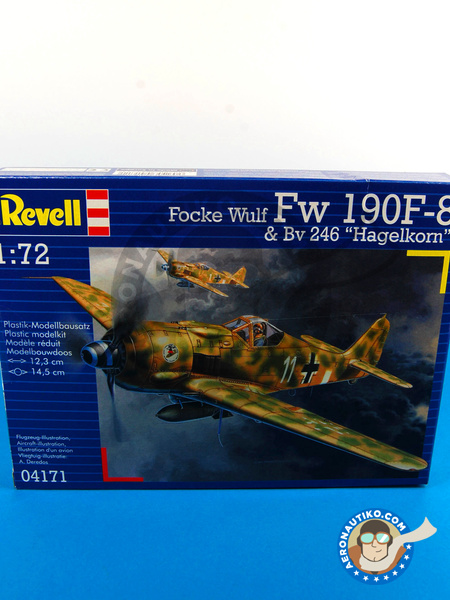 Focke-Wulf Fw 190 Würger F-8 / A-8 + BV 246 Hagelkorn | Airplane kit in 1/72 scale manufactured by Revell (ref. REV04171) image