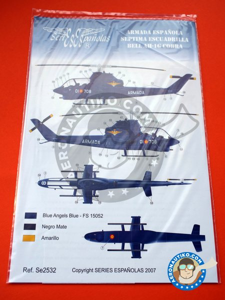 Bell AH-1G COBRA G | Marking / livery in 1/32 scale manufactured by Series Españolas (ref. SE2532) image