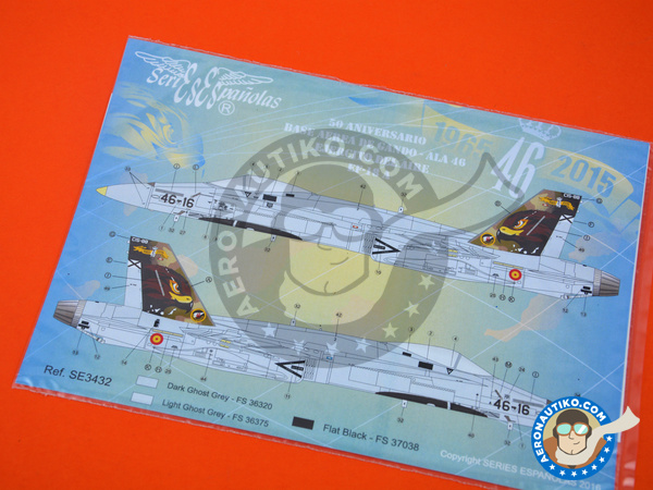 Image 4: McDonnell Douglas F/A-18 Hornet A | Marking / livery in 1/32 scale manufactured by Series Españolas (ref. SE3432)
