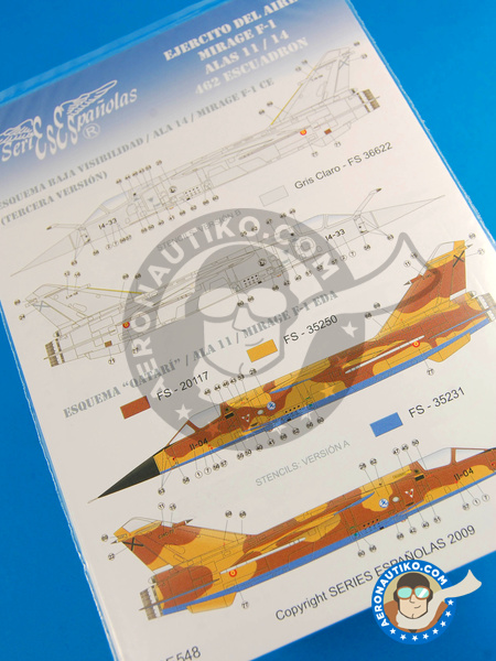Dassault Mirage F1 | Marking / livery in 1/48 scale manufactured by Series Españolas (ref. SE548) image