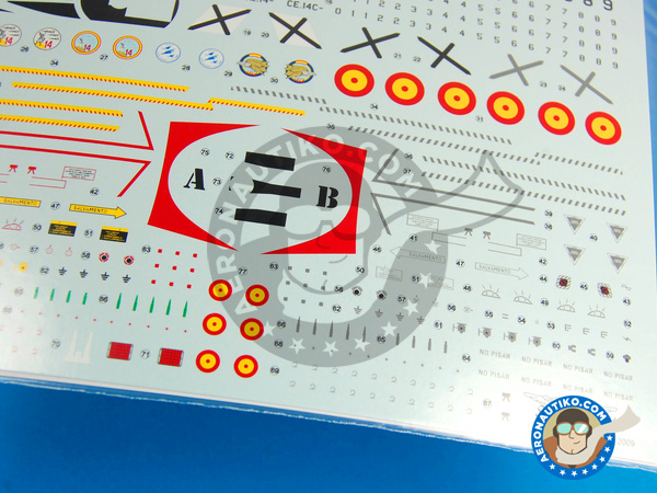 Image 6: Dassault Mirage F1 | Marking / livery in 1/48 scale manufactured by Series Españolas (ref. SE548)