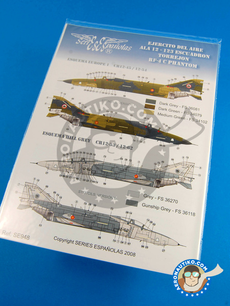 McDonnell Douglas F-4 Phantom II C | Marking / livery in 1/48 scale manufactured by Series Españolas (ref. SE948) image