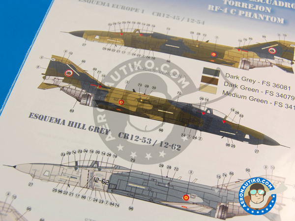 Image 3: McDonnell Douglas F-4 Phantom II C | Marking / livery in 1/72 scale manufactured by Series Españolas (ref. SE972)