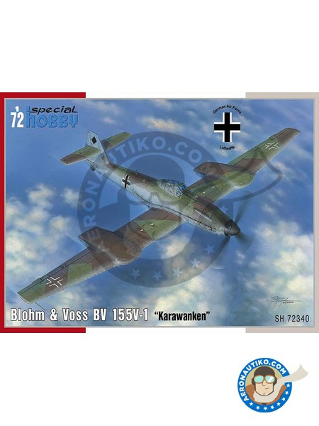Blohm & Voss BV 155V-1 1/72 | Airplane kit in 1/72 scale manufactured by Special Hobby (ref. SH72340) image