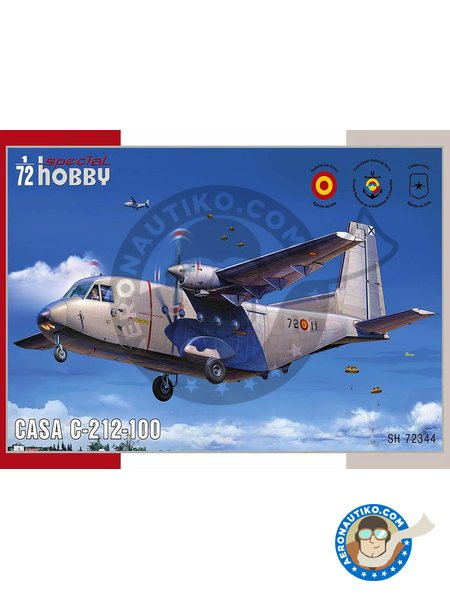 CASA C-212-100 1/72 | Model kit in 1/72 scale manufactured by Special Hobby (ref. SH72344) image