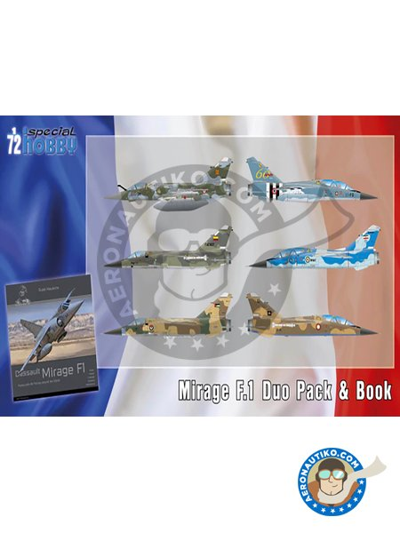 Mirage F.1 Duo Pack & Book. | Airplane kit in 1/72 scale manufactured by Special Hobby (ref. SH72414) image