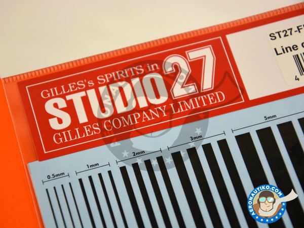 Image 3: Black lines | Decals manufactured by Studio27 (ref. ST27-FP0029)