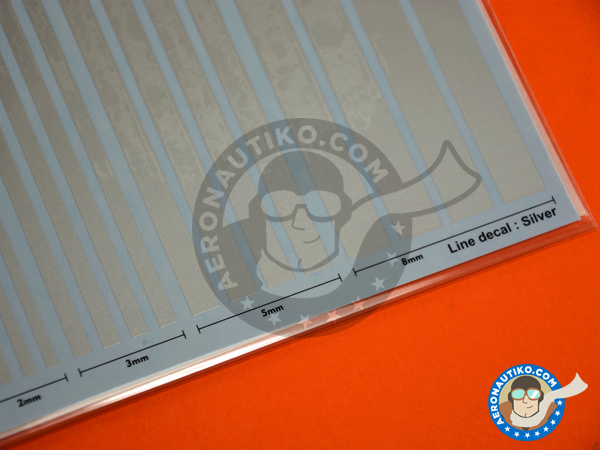 Image 3: Silver lines | Decals manufactured by Studio27 (ref. ST27-FP0030)
