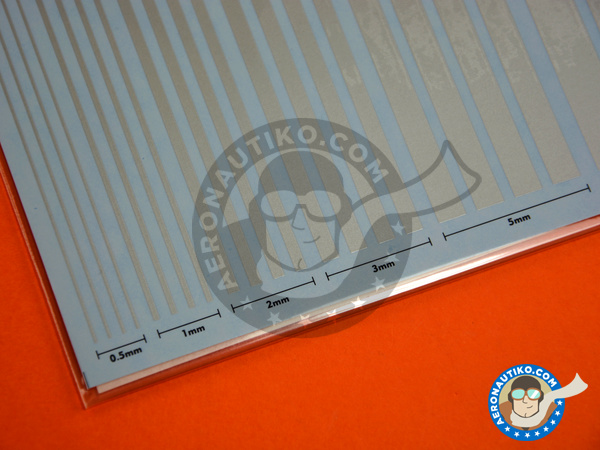 Image 4: Silver lines | Decals manufactured by Studio27 (ref. ST27-FP0030)