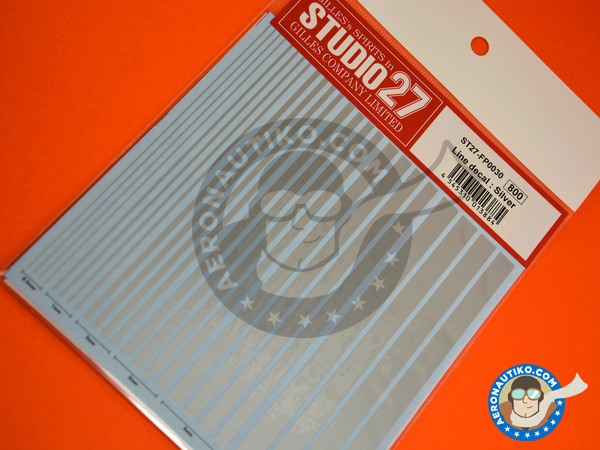 Image 5: Silver lines | Decals manufactured by Studio27 (ref. ST27-FP0030)