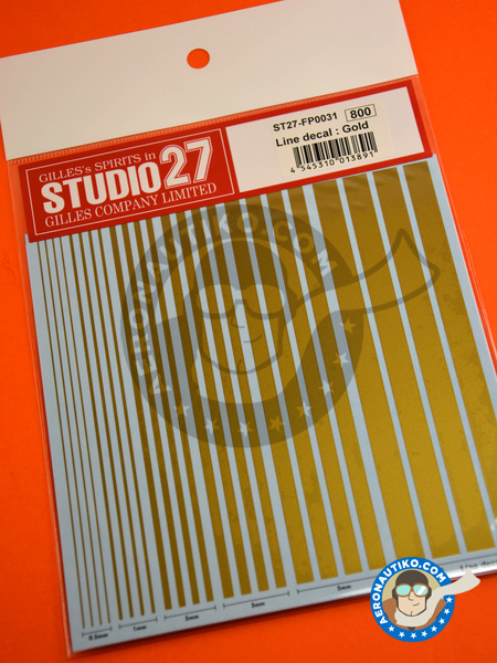 Gold lines | Decals manufactured by Studio27 (ref. ST27-FP0031) image